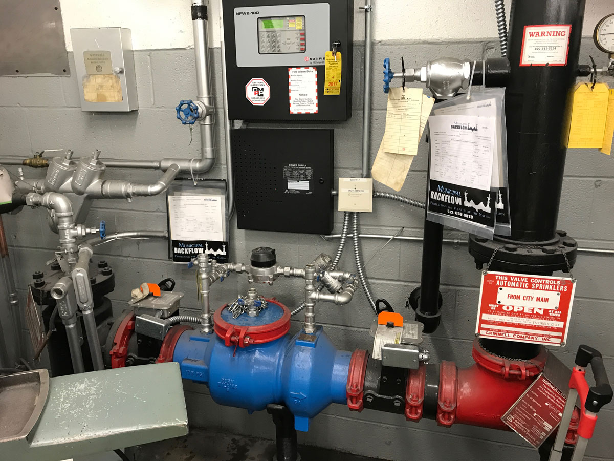 commercial industrial apollo wilkins backflow testing services main drain alarm panel